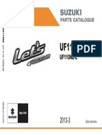 Suzuki Let's Premium UF125 Parts List