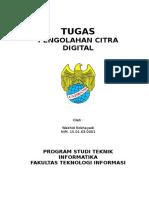 Tugas Pengolahan Citra Digital