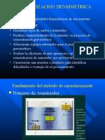 Caracterizacion densimétrica