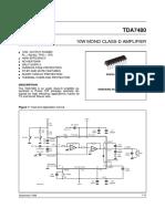 Tda7480 Class d Amp