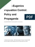 CryptoEugenics  Population Control_  Policy and  Propaganda