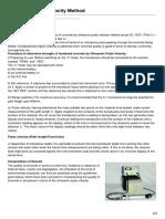 Ultrasonic Pulse Velocity Method