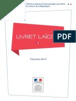 Livret Laïcité - Ministère de l'éducation - Décembre 2016