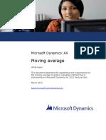 Moving Average in Microsoft Dynamics AX 2012