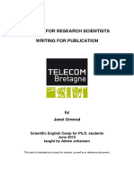 English for Research Scientists Writing for Publication