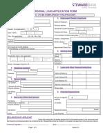 Steward Bank Individual Loan Application Form - (Customer Section)
