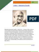 Indian Video - M K Gandhi