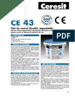 Ceresit Ce43-Fisa Tehnica