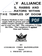 Unholy Alliance Priests, Rabbis and Conspirators Within the Temples of Doom Gyeorgos Ceres Hatonn