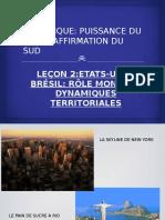 EU,brésil- rôle mondial, dynamiques territoriales
