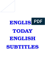 English Today 25 DVDies English Subtitles
