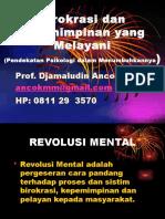 Kepemimpinan Melayani Revolusi Mental Ancok