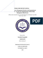 Tugas Literature Review Jurnal manajemen