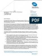 Carbon Capture and Storage Association (CCSA) letter to Chancellor of the Exchequer George Osborne