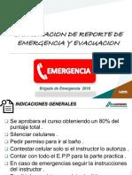 Capacitacion Reporte de Emergencia y Evacuacion