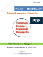 Research Updates-Homeopathy Volume 5 Issue 4