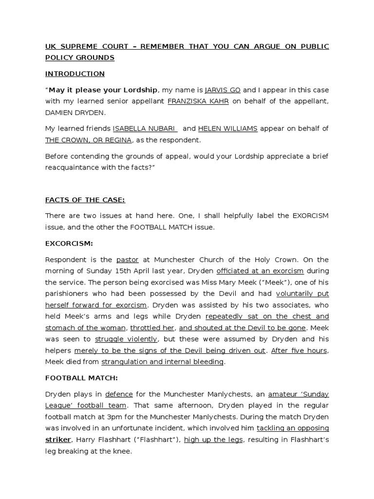 Moot Script   Criminal Law   Government Information