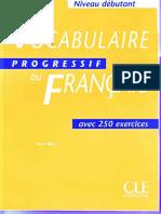 Vocabulaire Progressive Du Français Débutant