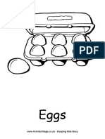 Eggs Colouring Page