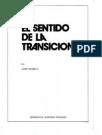 El Sentido de La Transición / Jaime Guzmán