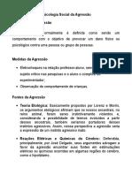 Psicologia social da Agressão.doc