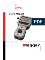 Megger Mom2 Low Resistance Micro Ohmmeter Product Manual