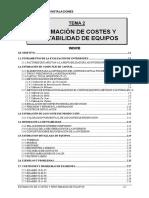 2. Estimación de Costes y Rentabilidad de Equipos