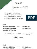 Cálculo de Poleas