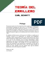 C. Schmitt - La Teoria Del Guerrillero