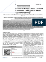 Study of the Tolerance to Drought Stress Levels of (PEG 6000) in Different Genotypes of Wheat Germination Stage