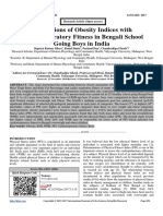 Associations of Obesity Indices with Cardiorespiratory Fitness in Bengali School Going Boys in India