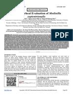 Anti-Diarrheal Evaluation of Medinilla septentrionalis