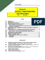 8. Depósitos y Recipientes de Proceso