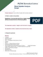1 1 6 blood splatter analysis experimental design