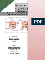 Normativa de Etiquetado y Rotulado Para Productos de Exportacion