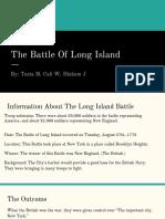 battle of long island and saratoga  1