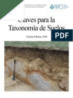 Claves Pra Taxonomia Suelos USDA NRCS Dec Edic 2006