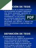 Tipos de Tesis y Como Elegir El Tema