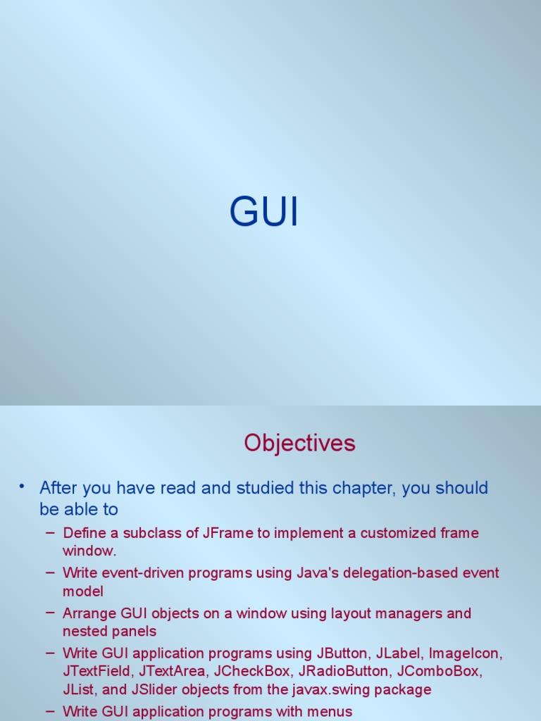 GUI1 | Java (Programming Language) | Software