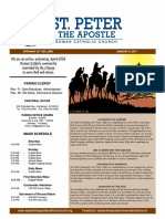 St. Peter the Apostle Weekly Bulletin 1-8-17