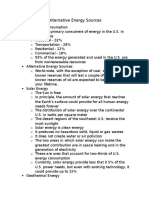 renewable and alternative energy sources notes
