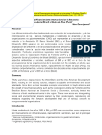 Evolucion del financiamiento internacional en la Amazonia