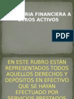Auditoria Financiera a Otros Activos