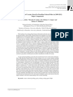 Chemical Profiling of Cocaine Seized by Brazilian Federal Police in 2009-2012