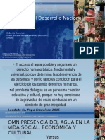El Agua y El Desarrollo Nacional y Sectorial