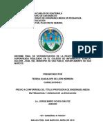 Informe Graduacion Tere 2015