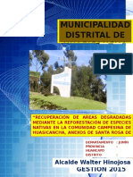Proyecto de Reforestacion. Huasicancha - Ultimo