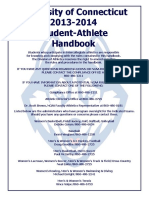 University of Connecticut 2013-2014 Student-Athlete Handbook