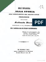 Dell'Influenza Della Stora Sull'Insegnamento Del Diritto Civile