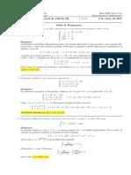 Corrección Segundo Parcial de Cálculo III, 5 de enero de 2017